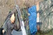 dead body of terrorist found from lake in kashmir