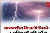 2 girls died due to lightning in madhepura