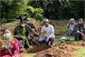 gurugram foundation of banyan and peepal trees nursery laid with plantation