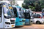 private buses will not run in himachal from monday