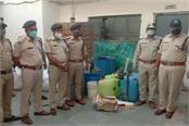 big action of bhind police liquor worth 10 lakhs seized from the well