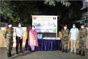 army handed over relief material related to kovid