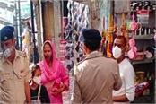 police warns encroachers on jwalamukhi bus stand and temple main road