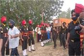 soldier gurpreet singh was given the last farewell