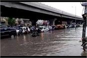 samalkha city was completely submerged due to rain