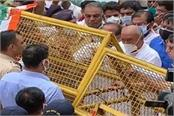 dispute over giving land to rss water cannon on digvijay singh