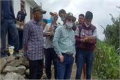 geological team inspected the disaster affected villages