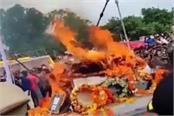 martyr lokendra singh s funeral
