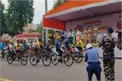 cm yogi flagged off ssb s cycle rally and left for delhi
