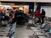 uk  3 injured  17 arrested in fight between passengers at luton airport