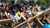 black day  farmers broke barricades deputy cm residence