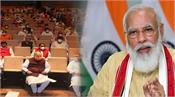 pm modi says opposition is running away from the discussion