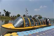 j k  luxury bus boat to water transport on jhelum river