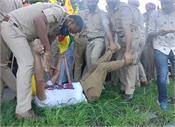 farmers protest against bjp leader  madan mohan mittal  sri anandpur sahib