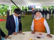 pm meets indian olympics contingent
