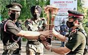 golden victory torch reaches the front of siachen glacier