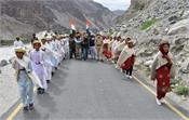 golden victory torch reaches turtuk in ladakh martyrs of 1971