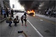 truck drives through florida protesters no serious injuries