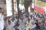 roadways employees strike in gohana on seventh day