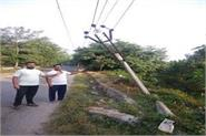 elevated poles high voltage wires  punjab news