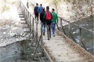 bridge inviting the death in sakryana village