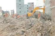 noida incident now and 24 hours to clean the debris due to rain