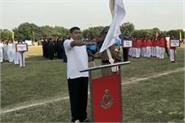 launch of inter marginal athletics meet 2019 at tekanpur bsf