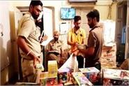 7 sacks of firecrackers stored without license recovered