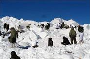avalanch havoc in siachen 6 people including 4 soldiers killed in snow storm
