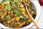 spinach mushroom chickpea curry