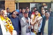 nishant return home after wins the bronze medal in wrestling