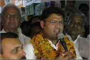 during the inauguration of the congress office tamboo flied in storm