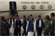 pakistani prime minister imran khan arrives in iran