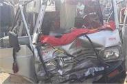 horrific road accident in kanpur 3 killed in collision between bus and van