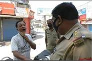 evening of gutkha paan eaters police checked with open mouth