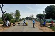 laxman rekha draws in pabra villagers form corona task force
