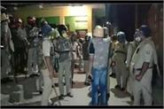 aligarh namazis pelted stones at policemen for stopping the offering of namaz