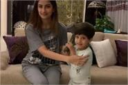 shweta shares video of her daughter palak and son reyansh