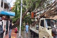 nisarg devastated in madhya pradesh rains with strong winds
