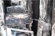 atm burnt after robbery see photos