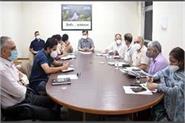 dc rk gautam in review meeting