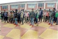 student rampage in private institute