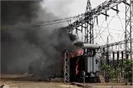fire in transformer