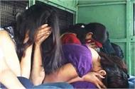 young women were called on contract police raided sex racket busted