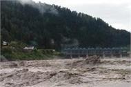 high alert in mandi district due to heavy rain