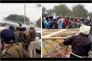 farmers break barricades in ambala
