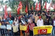 citu protest in shimla