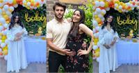 Baby Shower Pictures: व्हाइट गाउन में ''स्लमडॉग मिलेनियर'' फेम फ्रीडा पिंटो ने फ्लाॅन्ट किया बेबी बंप, जल्द देगी मंगेतर के बच्चे को जन्म