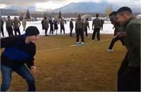बर्फीली वादियों में भारतीय सेना ने US आर्मी के साथ खेली कबड्डी, जवानों ने खूब की मस्ती