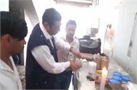 खाद्य सुरक्षा विभाग की टीम ने शहर में की छापेमारी, दूध, दही व पनीर के सैंपल लेकर भेजे लैब